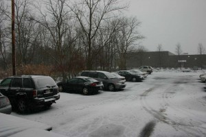 Around 8:30am the parking lot looked like this.