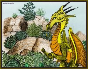 Parnassus the shy dragon.
