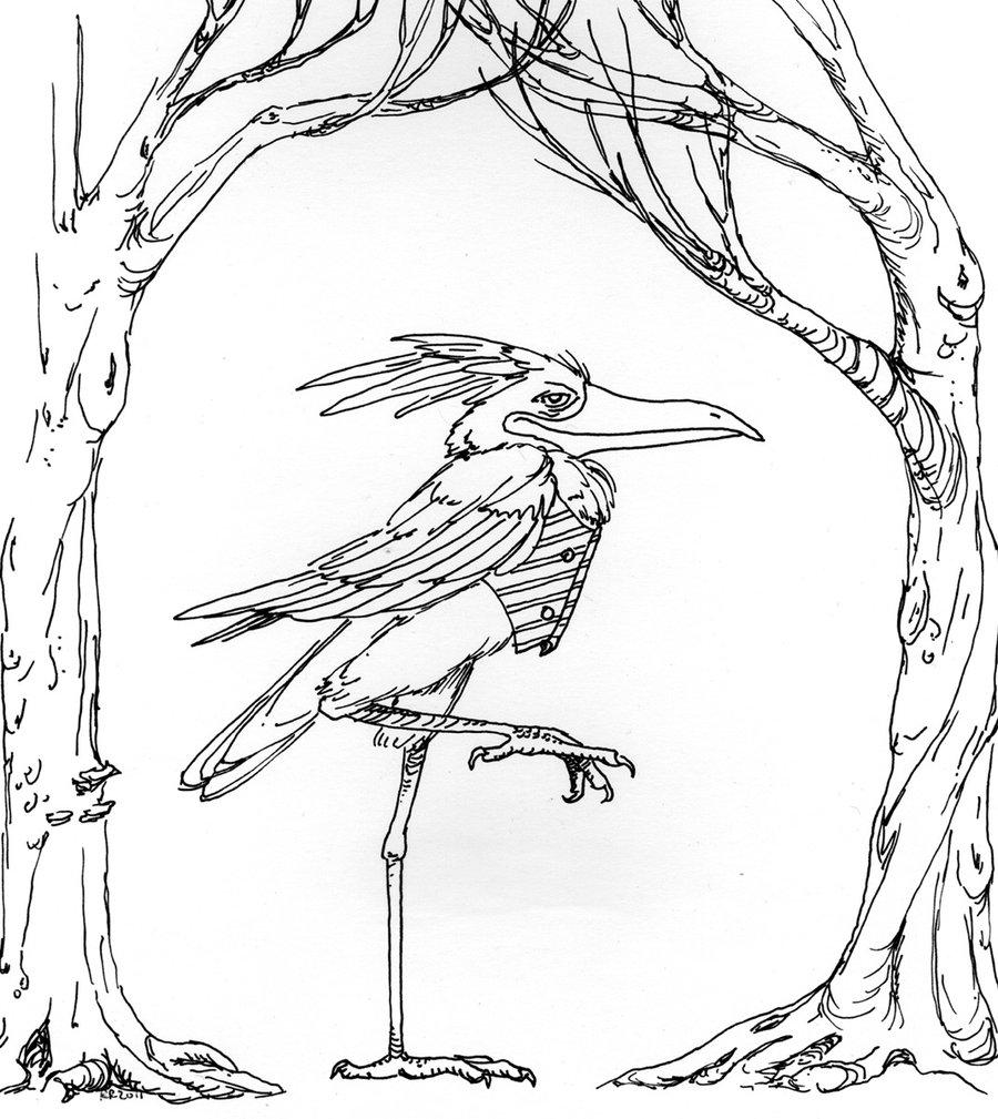 A Stork in a Waistcoat