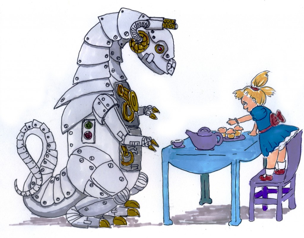 Robot Dinosaurs Love Tea.